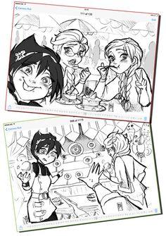 Elsa, Evil Elsa and Anna go to shopping