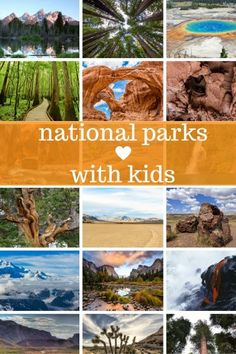 A guide to the Best National Parks for Kids: With Tips & tricks on visiting EVERY NATIONAL PARK. From Junior Ranger coverage to the parks from east to west, get out there and explore national parks with your family. #nationalparks #hiking #nps via @trekaroo