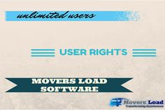 Our software easily allows you to distribute rights to different parts of your software and allows you UNLIMITED users! More info:   https://www.moversload.com/  #MovingBusiness #Software