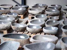 Stone Bathroom Sink, Stone Sink, Bathroom Inspiration, Dog Bowls, Decorative Bowls, Candle Holders, Tableware, Home Decor, Alternative