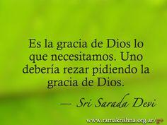 """Marzo 31 · Sri Sarada Devi  """"Es la gracia de Dios lo que necesitamos. Uno debería rezar pidiendo la gracia de Dios."""""""