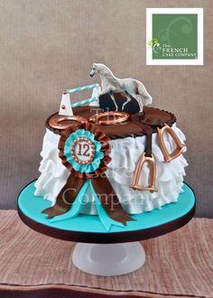 A cake for Reese (idea) Sports Birthday Cakes, 13 Birthday Cake, Horse Birthday Parties, Horse Birthday Cakes, Fancy Cakes, Cute Cakes, Torta Matilda, Western Cakes, Pony Cake