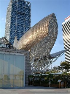 Frank Gehry's Copper Fish, Port Olimpic, Barcelona, Spain