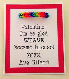 Rainbow Loom Valentine Ideas!