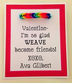 Rainbow Loom Valentine Ideas! Joy brown, put kade to work on his own valentines!