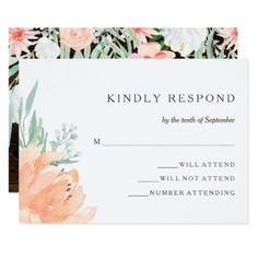 #wedding #responsecards - #Rustic Floral Romance   Wedding Response Card