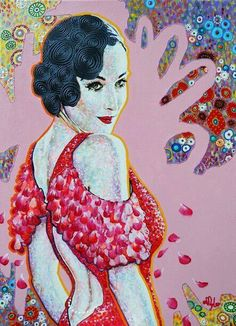 """Diva Dita"", original painting by Amylee, art, creation, www.amylee-paris.com #painter"