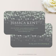 Champagne Bubbles Event Planner or Wedding Coordinator Business Card / Calling Card / Mommy Card ©MalloryHopeDesign
