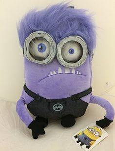 Despicable Me Purple Minions Childrens Plush Backpack @ niftywarehouse.com #NiftyWarehouse #DespicableMe #Movie #Minions #Movies #Minion #Animated #Kids