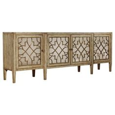 """Check out this item at One Kings Lane! Sanctuary 105"""" Mirrored Sideboard, Gold"""