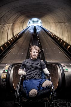 The story of a true American Hero.  Grab a kleenex before reading!  Taylor Morris in the DC metro system outside of Walter Reed Medical Center