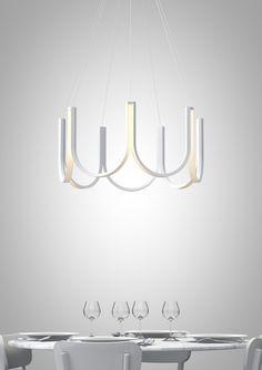 LED aluminium pendant lamp By ARPEL Lighting design Sylvain Willenz Luxury Lighting, Home Lighting, Lighting Design, Lighting Ideas, Id Design, Lamp Design, Led Chandelier, Pendant Lamp, Chandeliers
