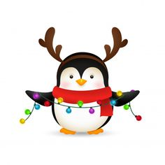 Adorable Penguins, 80 Best Free Graphics on Freepik Christmas Rock, Diy Christmas Cards, Christmas Clipart, Christmas Images, Christmas Crafts, Cute Christmas Wallpaper, Penguin Cartoon, Free Graphics, Vector Graphics