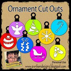 Auntie M Designs: Cut Out Ornaments