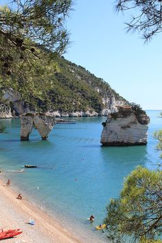 Baia delle Zagare, Gargano, Puglia, Italy: http://www.europealacarte.co.uk/blog/2010/08/26/italy-beaches-best-puglia-beaches-gargano-beaches/