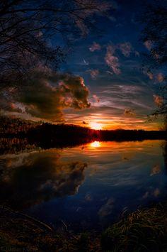 Sun in the lake by Stefan K. on 500px