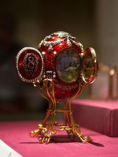 Faberge Easter Egg 1893 :: Imperial Caucasus Egg created by the House of Faberge for Czar Alexander III to present to his wife on Easter 1893.