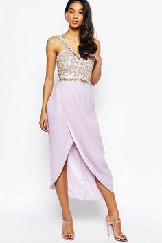 Virgos Lounge Crystal Embellished Midi Dress, $235, asos.com   - Seventeen.com