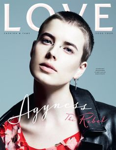 Agyness Deyn by Mert & Marcus for Love Magazine Cover Dr. Martens, Masakazu Katsura, Bridge Piercing, Agyness Deyn, Piercings, Love Magazine, Magazine Covers, Bald Women, Actresses