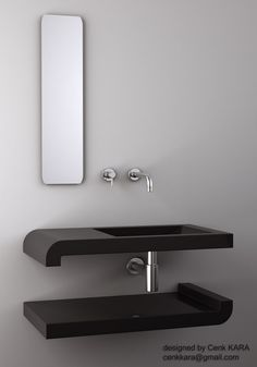 Sink Design 01 by cenkkara on DeviantArt Bathroom Sink Design, Bathroom Renos, Bathroom Interior Design, Bathroom Toilets, Bathrooms, Sink Faucets, Door Handles, Furniture Design, Home Decor