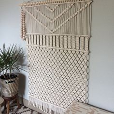 Macrame Wall Hanging Large Forest by HollyMuellerHome on Etsy Macrame Wall Hanging Patterns, Large Macrame Wall Hanging, Window Hanging, Macrame Patterns, Hanging Wall Art, Wall Hangings, Macrame Design, Macrame Art, Macrame Projects