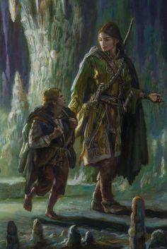 Legolas Frodo by Donato Giancola