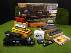 See Them All 2015 MTH RailKing ES44 Freight Sets http://mthtrains.com/railking/spotlight/09_2015/k   Now arriving at your MTH Dealer the ES44AC Diesel Ready To Run O Gauge Freight Sets with Proto-Sound 3.0 and a MSRP of $449.95. For more details about all these Freight Sets check out the link above to see it and all the 2015 Ready-To-Run RailKing O Gauge ES44AC Freight Sets and use the Find It Locally tab under the website item page to locate a RailKing Freight Set at your MTH Dealer.