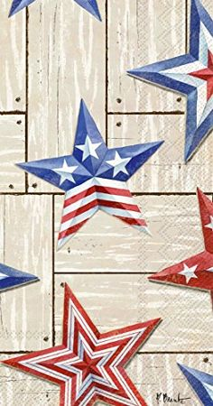 Ideal Home Range 16 Count Patriotic Barn Stars Paper Guest Buffet Towel Napkins Star Wallpaper, Iphone Wallpaper, Patriotic Wallpaper, Eagle Pictures, Paper Napkins For Decoupage, Graduation Party Decor, Guest Towels, Diy Canvas Art, Fourth Of July