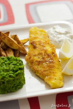 Fish and Chips, Mushy Peas and Tartare Sauce - Food for Love
