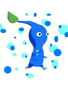 I love blue pikmin! They are so cute!