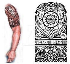 Viking Nordic Tattoo by thehoundofulster