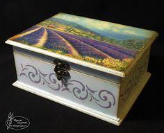 "Casket ""Lavender of Provence"", size 20 * 15 * 9.5 cm / Шкатулка ""Лавандовый Прованс"", размер 20*15*9.5 см"