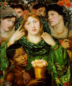 "DANTE GABRIEL ROSSETTI - ""The Beloved"".there were three females he used in most of his works: Jane Morris, Elizabeth Siddal and Fanny Cornforth.all of which were his lovers at some point or other and Elizabeth Siddal becoming his wife! Dante Gabriel Rossetti, John Everett Millais, Elizabeth Siddal, Pre Raphaelite Paintings, Pre Raphaelite Brotherhood, Edward Burne Jones, Female Painters, Tate Gallery, John William Waterhouse"