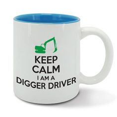 KEEP Calm and carry on DIGGER DRIVER digging by davesdisco on Etsy