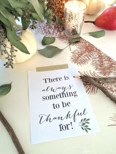 Fotini from Farmhouse Chic Blog is sharing a free Thankful Thanksgiving printable!