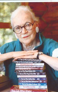 "Lillian Jackson Braun (1913-2011) author of ""The Cat Who..."" books"