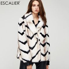 Faux Fur Coat Winter Knitted