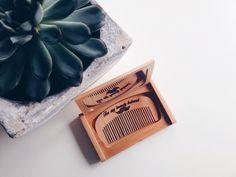 #beardcomb #baardkammetje #handmade #engraved #wood #etsy #formybeardybeloved #present For my beardy beloved