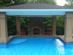 Charlotte Outdoor Fireplace Photos, covered patio