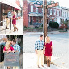 Sweet engagement session around this couple's favorite spots in their city, Richmond, VA by Stephanie Yonce Photography | See more on dogwoodbrides.com