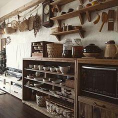 Asian Kitchen, Diy Kitchen, Kitchen Interior, Rustic Kitchen, Room Interior, Kitchen Decor, Kitchen Design, Unfitted Kitchen, Caravan Living