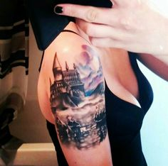 The beginning of my Harry Potter sleeve