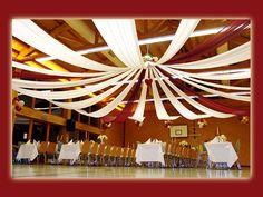 wedding reception ceiling