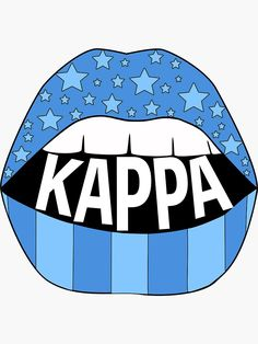 """Kappa Lips"" Sticker by rgldesigns"