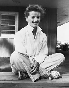 Katharine Hepburn. Naturally beautiful...freckles and all.