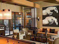 Living Room horse decor