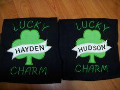 Lucky Charm Irish Clover Inspired Boys Shirt