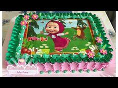 2 Birthday Cake, Bear Birthday, Creative Cake Decorating, Creative Cakes, Bolos Tie Dye, Masha Cake, Masha And The Bear, Fondant Cakes, Mini Cakes