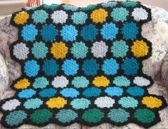 Stain glass afghan