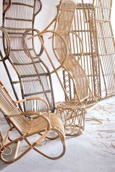 rattan chairs - magpie and squirrel